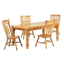 See Details - Extendable Dining Set w/Aspen Chairs (5 Piece)