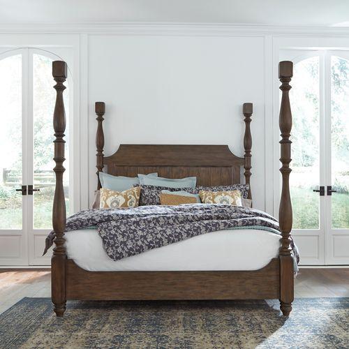 Queen Poster Bed, Dresser & Mirror, Chest, Night Stand