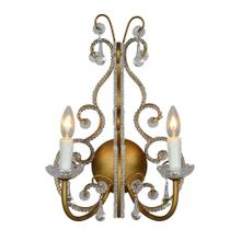 See Details - Fitzjohn Beaded Crystal Sconce