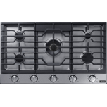 "DacorTransitional 36"" Gas Cooktop, Silver Stainless Steel, Natural Gas/Liquid Propane"