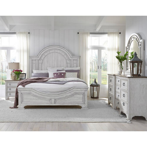 Glendale Estates Queen Transom Panel Bed Headboard