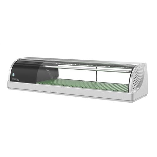 HNC-120BA-L-SLH, Refrigerator, Left Side Condenser Display Case, Half Glass Doors