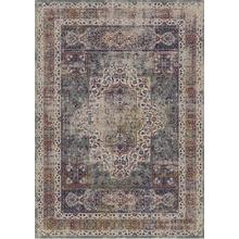 """Vintage Style Soft Polyester Print on Design Elevate 234 Area Rug by Rug Factory Plus - 7'6"""" x 10'3"""" / Black"""
