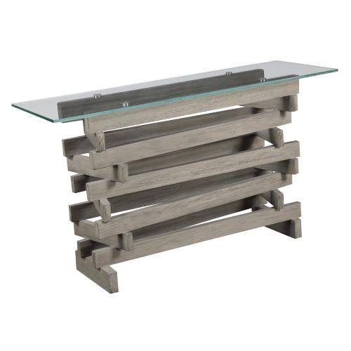 Emerald Home Jenga Sofa Table Driftwood T833-02base