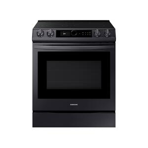 Samsung Appliances6.3 cu ft. Smart Slide-in Electric Range with Smart Dial & Air Fry in Black Stainless Steel