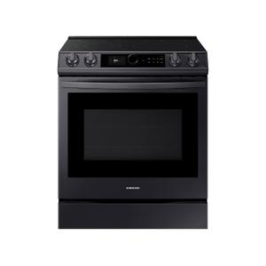 Samsung Appliances6.3 cu. ft. Front Control Slide-in Electric Range with Smart Dial, Air Fry & Wi-Fi in Black Stainless Steel