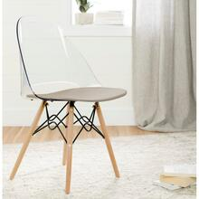 Annexe - Eiffel Style Office Chair, Soft Gray