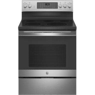 "GE® 30"" Free-Standing Electric Convection Range with No Preheat Air Fry Product Image"