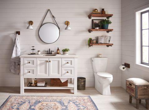 Moen YB6422ORB Belfield 24-Inch Bathroom Double Towel Bar Oil Rubbed Bronze
