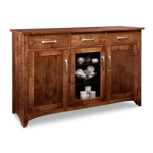 - Glengarry Sideboard w/2 Wood Doors & 1/Center Glass Door & 3/Drws & 2/Wood & Glass Adjust.