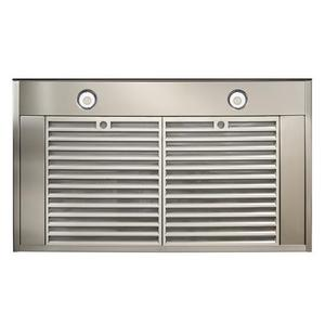 Ispira 30-in. 600 CFM Stainless Steel Chimney Range Hood with PURLED Light System and Black Glass
