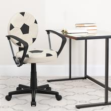 View Product - Soccer Swivel Task Office Chair with Arms