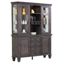 See Details - Buffet and Hutch - Shades of Gray