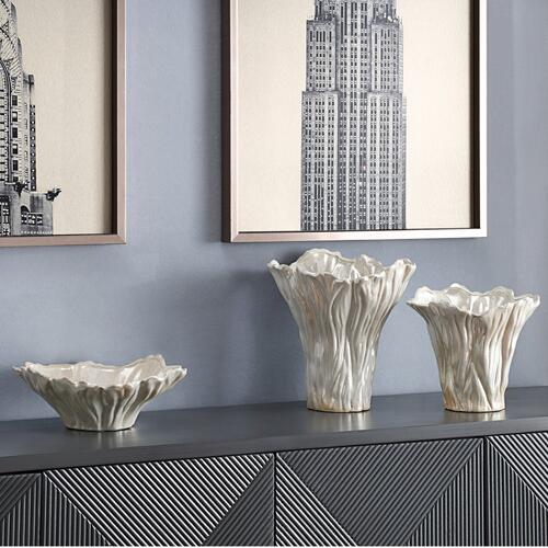 Quinton Organic Shaped Vases & Bowl,Set of 3