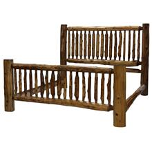 Small Spindle Bed - King - Vintage Cedar