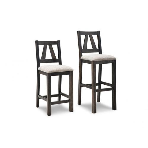 """Handstone - Algoma 30"""" Bar Chair With Leather Seat"""