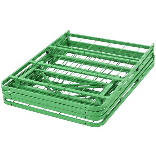 Horizon Queen Stainless Steel Bed Frame in Green