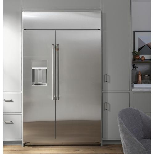 "Café 42"" Smart Built-In Side-by-Side Refrigerator with Dispenser"