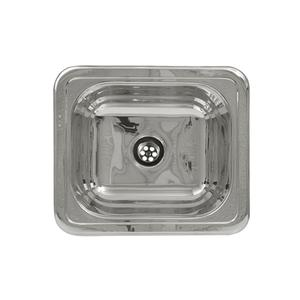 "Decorative Prep rectangular, drop-in entertainment/prep sink with a smooth surface and a 2"" center drain. Product Image"