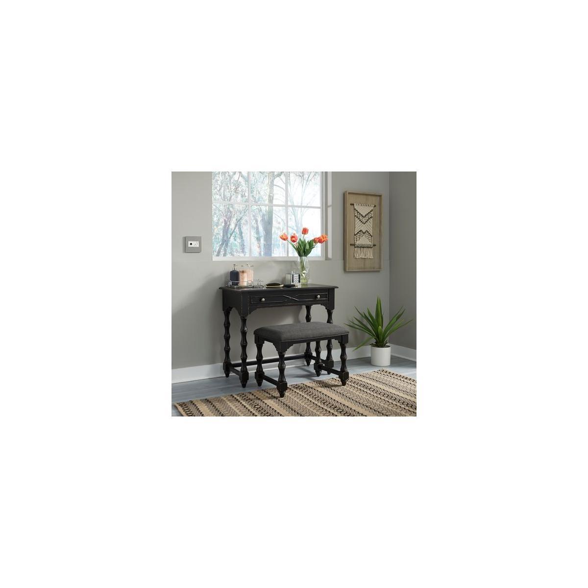 See Details - Accent Vanity Desk/Stool