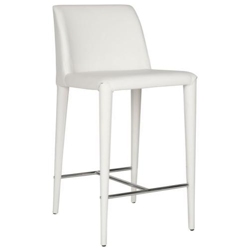 Garretson Counter Stool - White / Chrome