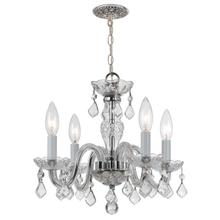See Details - Traditional Crystal 4 Light Clear Italian Crystal Chrome Mini Chandelier