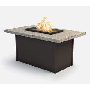 """32"""" x 52"""" Rectangular Chat Fire Pit Ht: 24.5"""" Aurora Aluminum Base (Indicate Top & Frame Color)"""