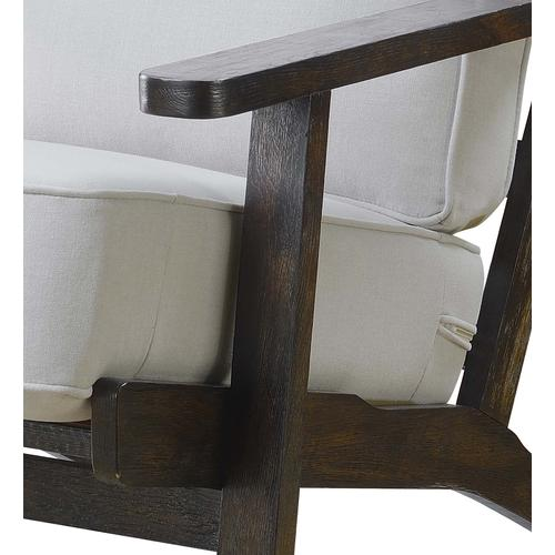 Metro Chair Taupe - Espresso Wood Finish (UPS Packing)
