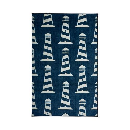 Mohawk - Seaside Lighthouse, Navy- Rectangle