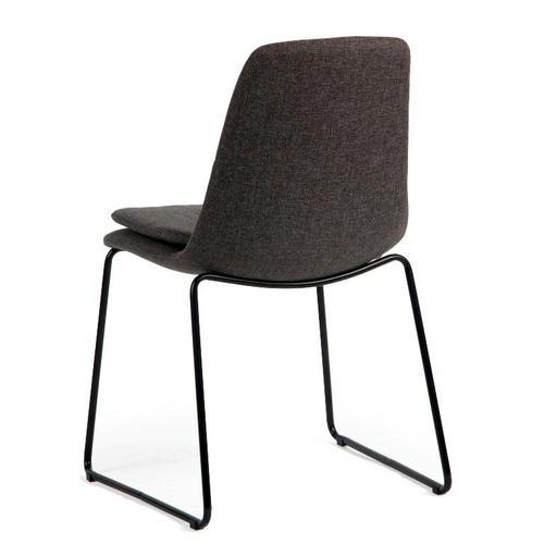 Marcell KD Fabric Chair Black Legs, Web Gray