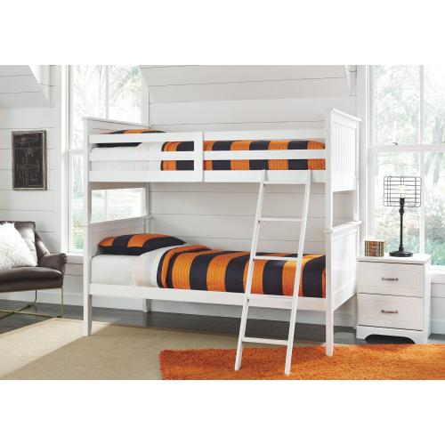 Twin Over Twin Bunk Bed With 2 Nightstands