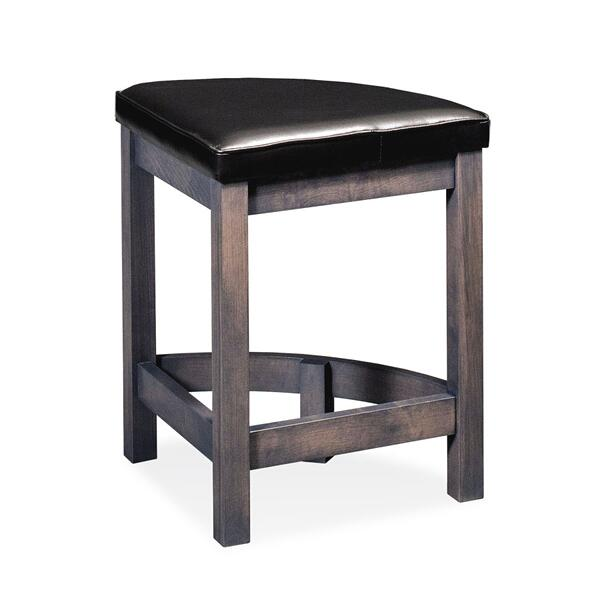 """Sector Stationary Barstool, 24""""h, Fabric Seat with Welt"""