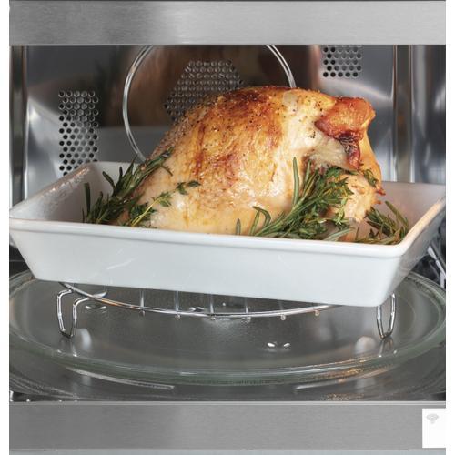 Cafe - Café™ 1.5 Cu. Ft. Smart Countertop Convection/Microwave Oven in Platinum Glass