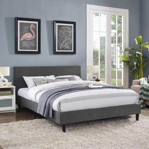 Anya Queen Bed in Gray