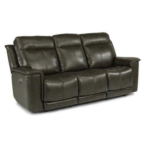 Flexsteel - Miller Power Reclining Sofa with Power Headrests - 204-04 Leather Vinyl