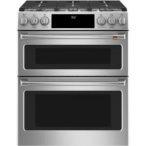 "Cafe Appliances30"" Smart Slide-In, Front-Control, Dual-Fuel, Double-Oven Range with Convection"