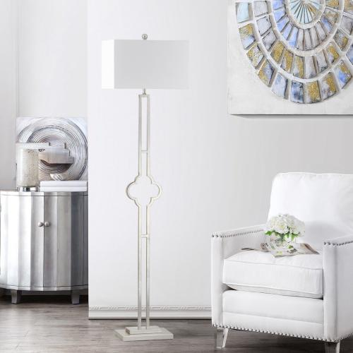 Kennelly Floor Lamp - Silver Leaf