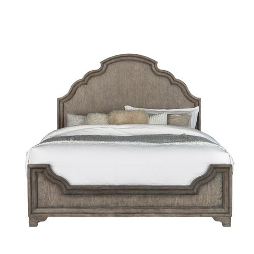 Bristol King / California King Panel Bed Headboard in Elm Brown