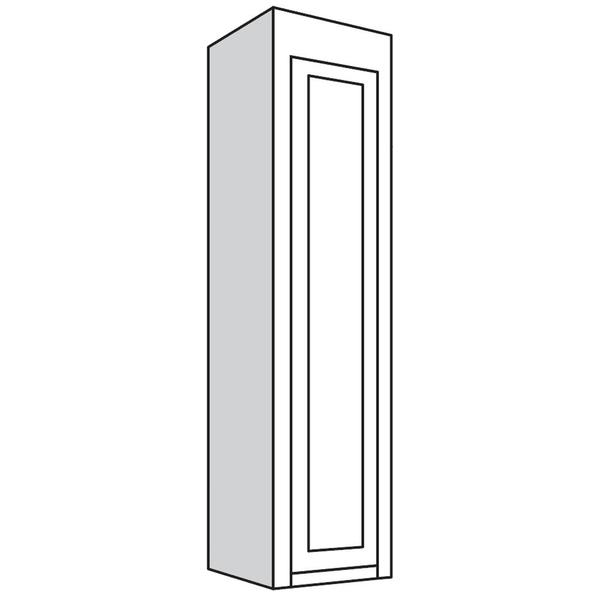 """See Details - Narrow Top Unit, 21""""w with 1 Wood Door"""