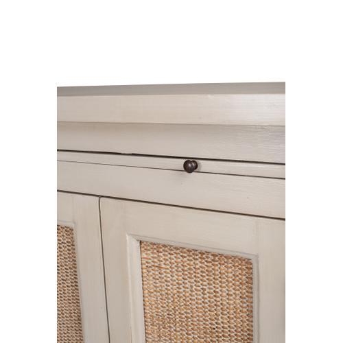 Jeffan - Camden Tall 2 Door Cabinet with Rattan Inset (51x12x45)
