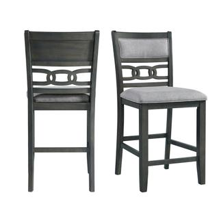 See Details - Amherst Counter Side Chair W/Fabric Cushion Grey Finish (2 Per Pack)