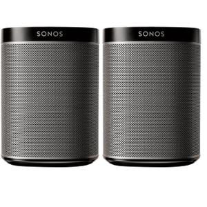 SonosBlack- Refurbished Two Room Set with Play:1