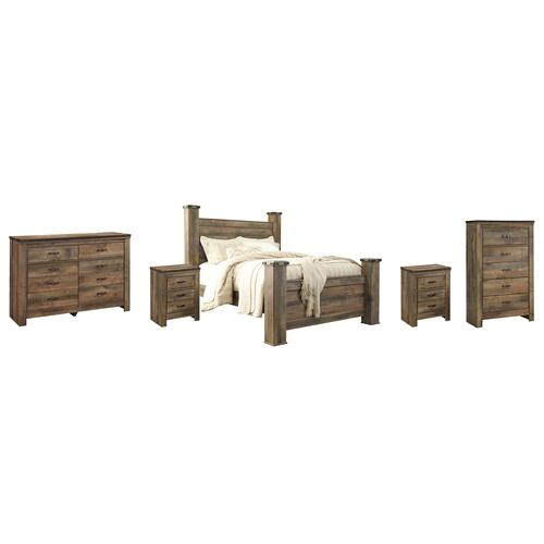 Ashley - Queen Poster Bed With Dresser, Chest and 2 Nightstands