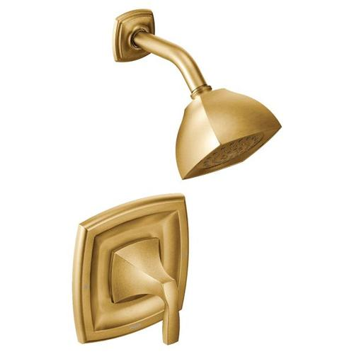 Voss brushed gold posi-temp® shower only