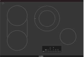 800 Series Electric Cooktop 30'' Black, surface mount without frame NET8068UC