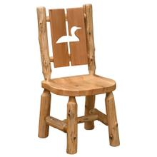 Cut-out Side Chair - Loon - Natural Cedar - Wood Seat