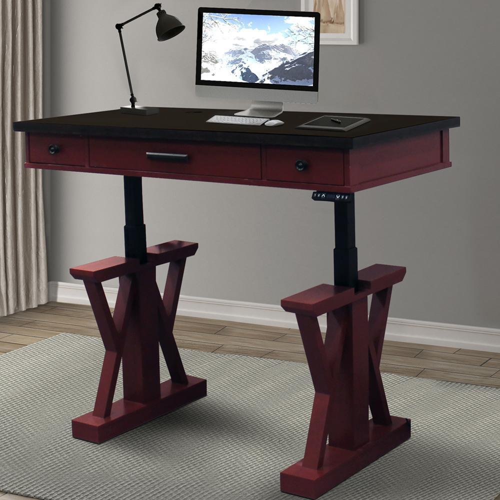 "AMERICANA MODERN - CRANBERRY 56"" Power Lift Desk"