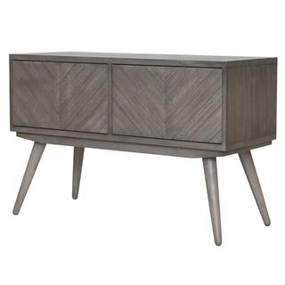 Piero Chevron High Media Stand, Weathered Gray