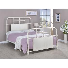 Cheriton Bed - Full, Antique White Finish