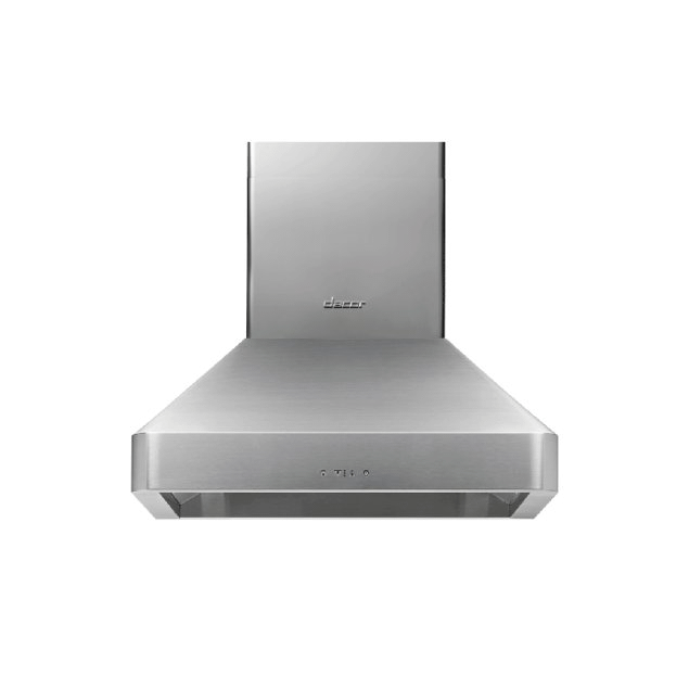 """Dacor 30"""" Chimney Wall Hood, Silver Stainless Steel"""